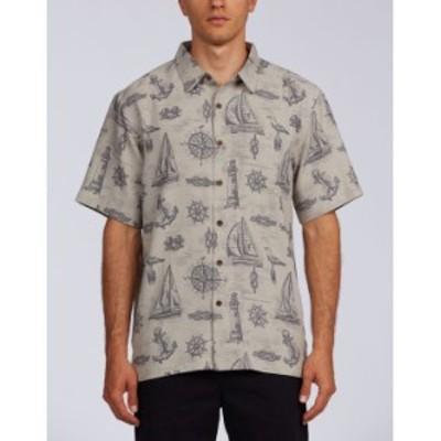 クイックシルバー メンズ シャツ トップス Sailing to See Men's Short Sleeve Shirt Flint Gray