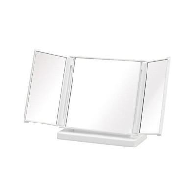 コンパクト三面鏡ホワイト光沢有245