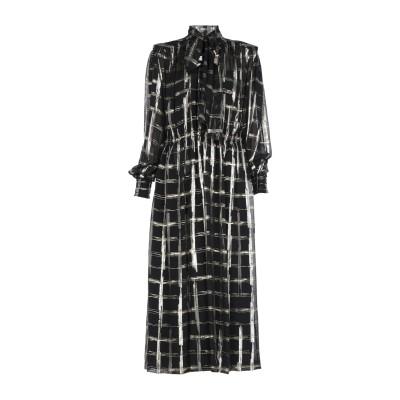 アルベルタ フェレッティ ALBERTA FERRETTI ロングワンピース&ドレス ブラック 38 アセテート 84% / シルク 10% / ポ
