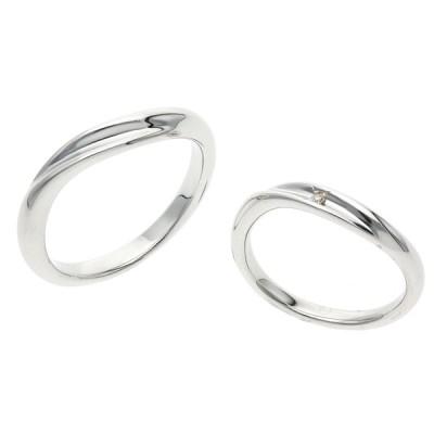 ペアリング 指輪  刻印無料 シルバー925 ウェーブ レディース メンズ 2本セット 送料無料