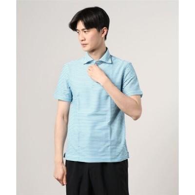 ポロシャツ GUY ROVER / ボーダー ポロシャツ
