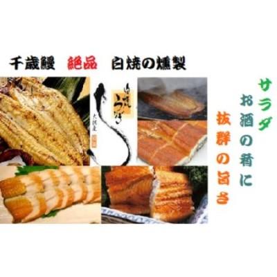 鹿児島県大隅産  千歳鰻の ★絶品★白焼の薫製ハーフカット2パック★