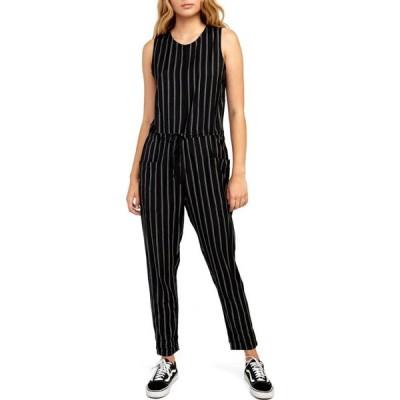 ルーカ RVCA レディース オールインワン ワンピース・ドレス Pop Out Jumper Black Stripe