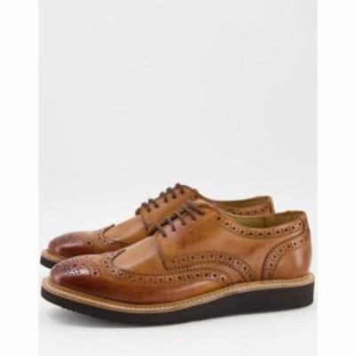 ベース ロンドン Base London メンズ 革靴・ビジネスシューズ シューズ・靴 Orion Brogues In Tan Leather タン
