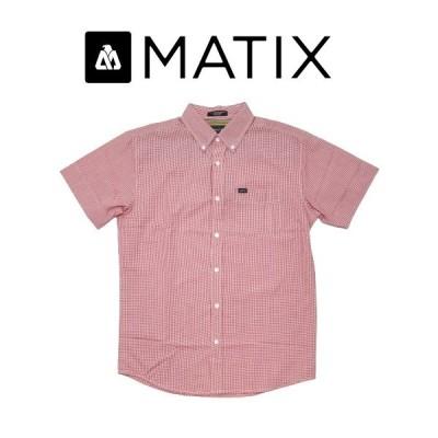 MATIX マティックス メンズ シャツ チェック ギンガムチェック ストリート カジュアル 半袖 スケボー スノボー サーファー大きめ Gingcrosby