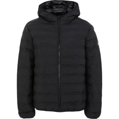 トップマン TOPMAN メンズ ダウン・中綿ジャケット フード アウター Considered Black Liner Hooded Jacket Synthetic Padding Black