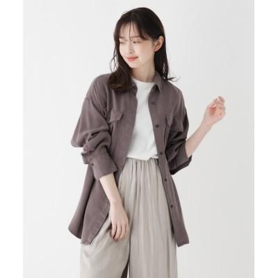 【スープ】 大人カジュアルシャツジャケット レディース ダーク グレー 09(M) SOUP