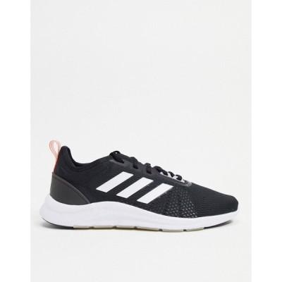 アディダス adidas performance メンズ ランニング・ウォーキング シューズ・靴 adidas Running Aswetrain trainers in black and white ブラック