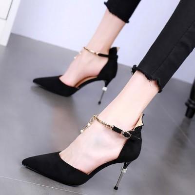 ヒール8.5cm/サイズ22-24.5cm パンプス ピンヒール レディース シューズ ハイヒール ベーシック シンプル ファッション 靴 婦人靴
