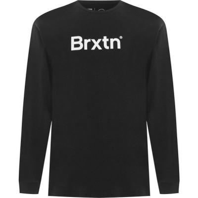 ブリクストン Brixton メンズ 長袖Tシャツ トップス Crowd II Long Sleeve T Shirt Black
