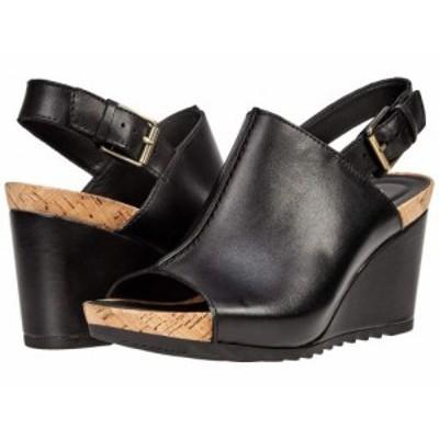 Clarks クラークス レディース 女性用 シューズ 靴 ヒール Flex Stitch Black Leather【送料無料】