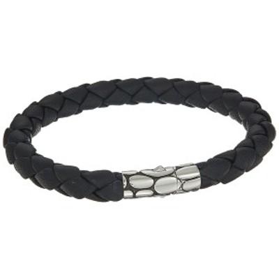 ジョン・ハーディー メンズ ブレスレット・バングル・アンクレット アクセサリー Kali 8mm Station Bracelet in Black Leather Silver/Bl