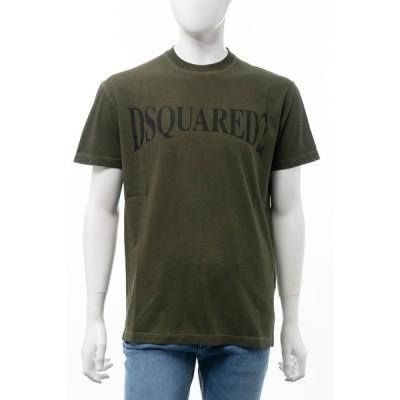 ディースクエアード Tシャツ 半袖 丸首 クルーネック メンズ S74GD0582S21600 カーキ DSQUARED2