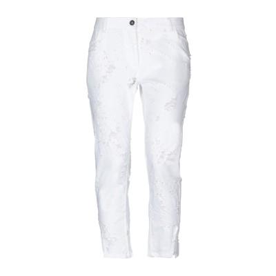 アン ドゥムルメステール ANN DEMEULEMEESTER パンツ ホワイト 42 コットン 97% / ポリウレタン 3% パンツ