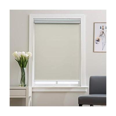 遮光ローラーシェード ブラインド 窓用 寝室 保温 コードレス 簡単プルダウン&アップ クリーム 幅32インチ x 高さ72インチ