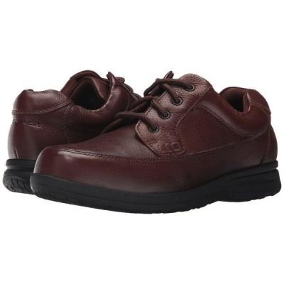 ノンブッシュ オックスフォード メンズ Cam Moc Toe Oxford Brown Tumbled Leather