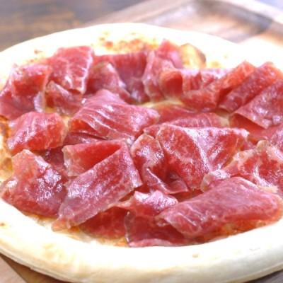 神戸牛生ハムとホワイトアスパラガスのピザ180g