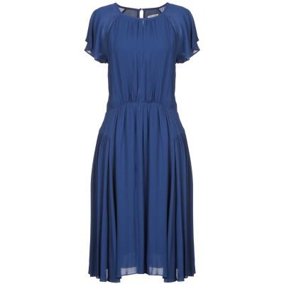 EMMA & GAIA 7分丈ワンピース・ドレス ブルー 40 100% レーヨン 7分丈ワンピース・ドレス