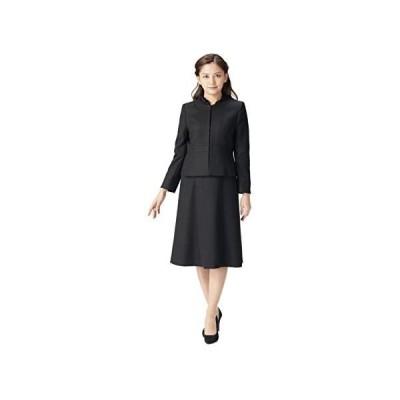 (マーガレット)marguerite m020 表地ジャガード素材 裏地キュプラ 喪服 礼服 ブラックフォーマル (ブラック 13 号)