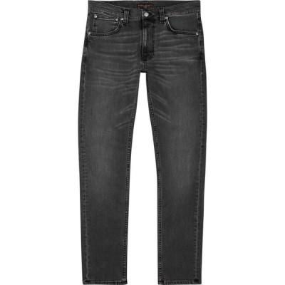 ヌーディージーンズ Nudie Jeans メンズ ジーンズ・デニム スキニー・スリム ボトムス・パンツ Lean Dean dark grey slim-leg jeans Grey
