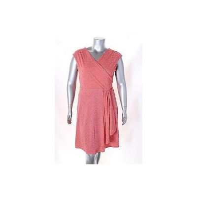 チャータークラブ ドレス ワンピース フォーマル Charter Club Coral ホワイト Cap スリーブ プリント Faux ラップ ドレス サイズ L 89LAFO
