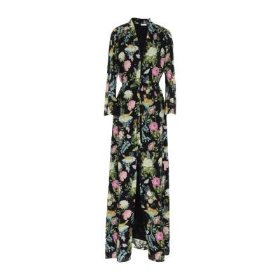 VILSHENKO ロングワンピース&ドレス ブラック 12 シルク 100% ロングワンピース&ドレス