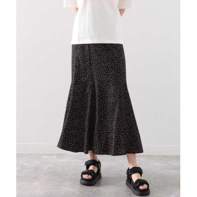 【アナップ】 ランダムドットマーメイドスカート レディース ブラック onesize ANAP