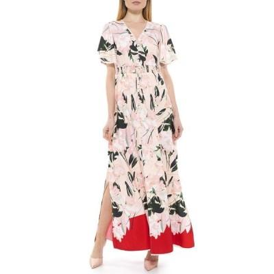 アレクシアアドマー レディース ワンピース トップス Gianna V-Neck Flutter Sleeve Maxi Dress BLUSH PAINTED