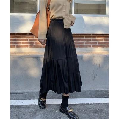スカート タックロングスカート