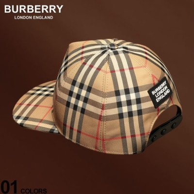 バーバリー メンズ キャップ BURBERRY ヴィンテージチェック ロゴ ブランド 帽子 ベースボールキャップ チェック コットン BB8021444