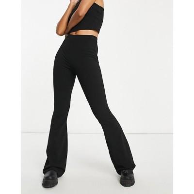 エイソス ASOS DESIGN レディース スキニー・スリム ボトムス・パンツ Jersey Slim Kick Flare Suit Trouser ブラック