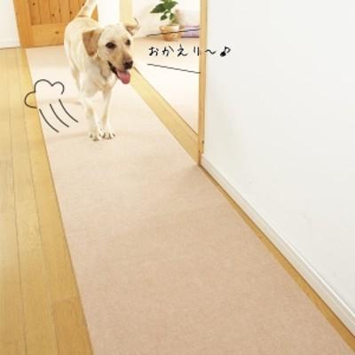 PEPPY(ペピイ) ピタッと吸着タイルマット ロングサイズ (60×90cm) ブラウン・2枚入り 滑り防止マット・カーペット 犬用