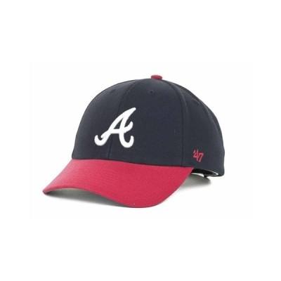 47ブランド 帽子 アクセサリー メンズ Atlanta Braves MLB On Field Replica MVP Cap Navy/Red