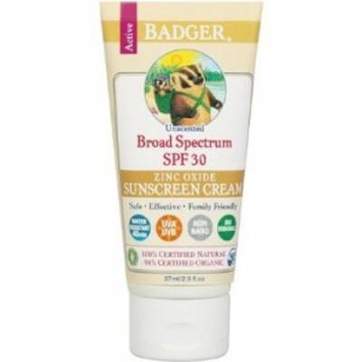 【赤ちゃん安心ブランド】Badger Sunscreen Cream SPF30 Unscented バジャー 日...