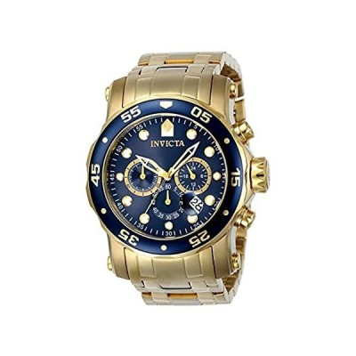 Invicta Men's Pro Diver Quartz Diving Watch with Stainless-Steel Strap, Gol