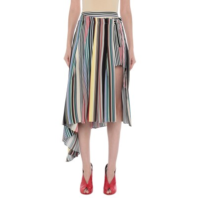MONSE 7分丈スカート ダークブラウン 0 シルク 100% 7分丈スカート