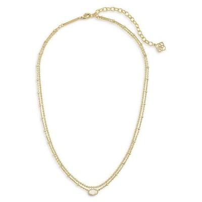 ケンドラスコット レディース ネックレス・チョーカー アクセサリー Emilie Mother of Pearl Layered Necklace 15.5-18.5