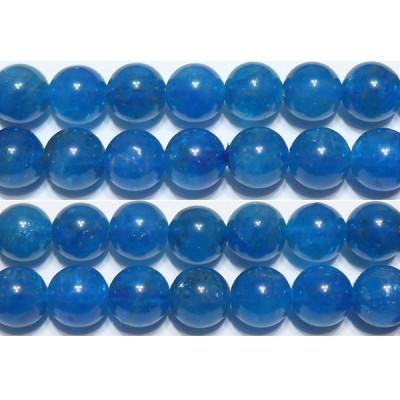 アパタイト 丸玉 8mm (ネオンブルーアパタイト) AA   ※ 天然石ビーズ 天然石 パワーストーン 1粒売り バラ売り 1玉販売