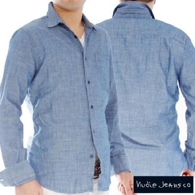 ヌーディージーンズ L/Sフィッテッドシャツデニム Nudie Jeans L/S Fitted Shirt Denim