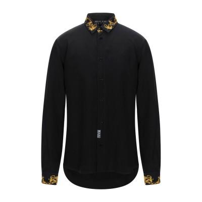 VERSACE JEANS COUTURE シャツ ブラック 46 キュプラ 57% / レーヨン 43% シャツ