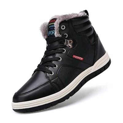スノーブーツ メンズ ウィンターブーツ防水 防寒靴  防滑 アウトドアシューズ  綿雪靴 裏起毛 滑り止め