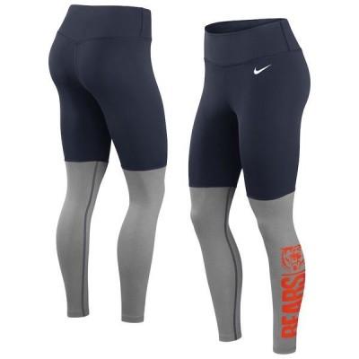 ナイキ レディース カジュアルパンツ ボトムス Chicago Bears Nike Women's Logo Stack Performance Leggings