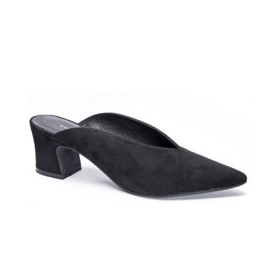 チャイニーズランドリー サンダル シューズ レディース Pollie Block Heel Dress Mules Black
