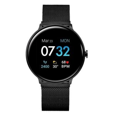 アイ タッチ 腕時計 アクセサリー メンズ Men's Sport's Black Stainless Steel Mesh Strap Smart Watch 43.2mm Black