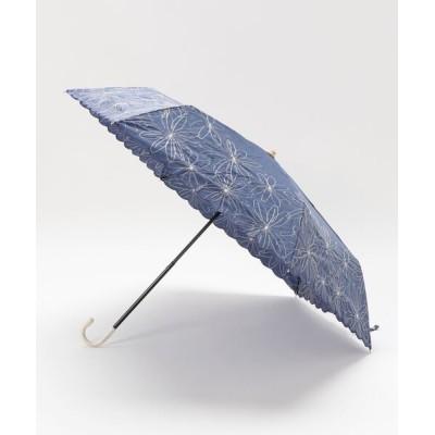 LOWRYS FARM / フラワーシシュウミニカサ 846211 WOMEN ファッション雑貨 > 折りたたみ傘