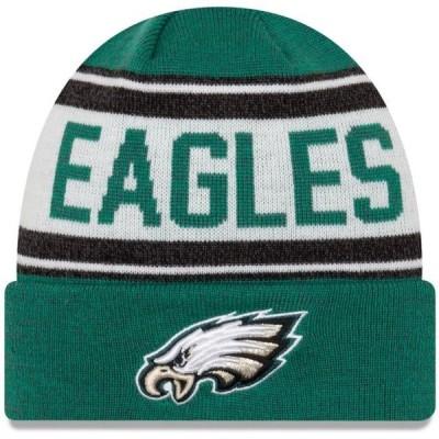 ベビー スポーツリーグ フットボール Philadelphia Eagles New Era Toddler Stated Cuffed Knit Hat - Midnight Green/White - OSFA 帽子