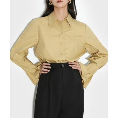 シャツ ブラウス 【chuclla】【2021/SS】Sleeve pleats shirt sb-5 chw1465