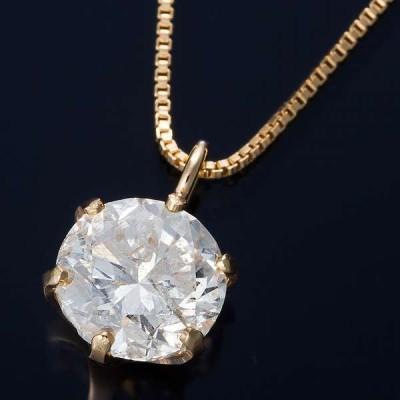 K18 0.5ct ダイヤモンド ペンダント ネックレス ベネチアンチェーン メーカー直送 ※沖縄・離島への配送不可
