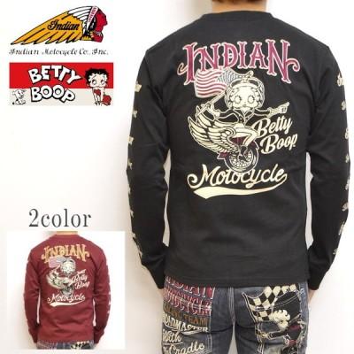 インディアンモトサイクル ベティブープ Indian Motocyacle BBI-902 天竺 長袖 Tシャツ BETTY ロンT メンズ