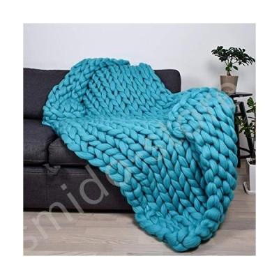 新品未使用!!送料無料!!Daoyuan Chunky Knit Throw Blanket,Contemporary Decorative Blanket,Soft Hand-Woven Throw Blanket for Bedroom S